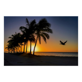 Key West Sunrise Tropical Paradise Poster