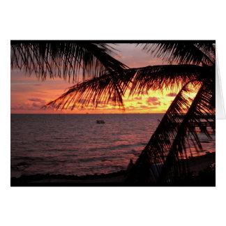 Key West Sunset (Blank) Card
