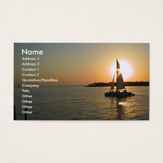 Key West Sunset Business Card