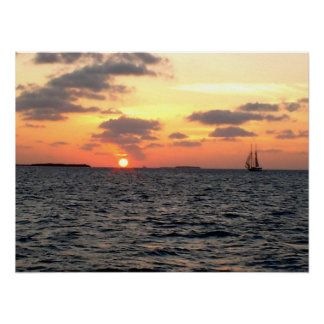 Key West sunset - Florida Poster