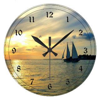Key West Sunset Large Clock