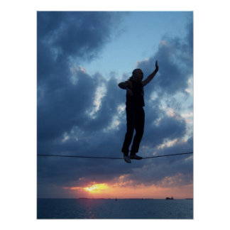 Key West Tightrope Walker at Sunset Poster