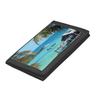 Key West, tropical landscape Tri-fold Wallet