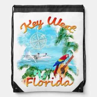 Key West Tropical Rock Drawstring Bag