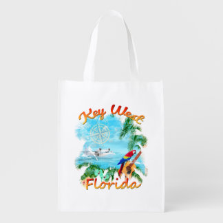 Key West Tropical Rock Reusable Grocery Bag