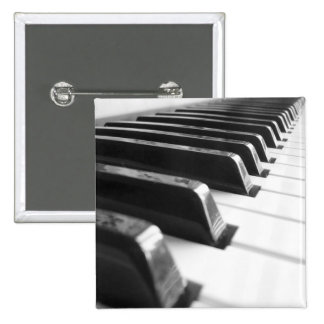 Keyboard - Black And White 15 Cm Square Badge