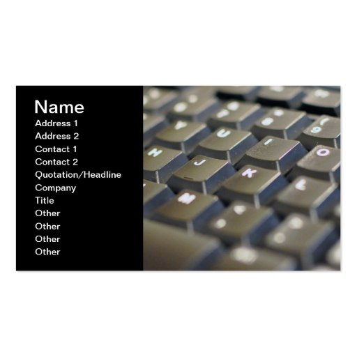 Keyboard Business Card
