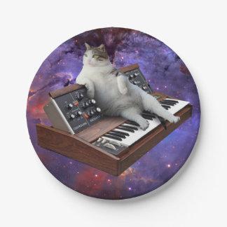 keyboard cat - cat memes - crazy cat 7 inch paper plate