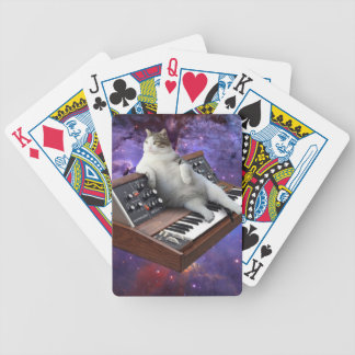 keyboard cat - cat memes - crazy cat bicycle playing cards