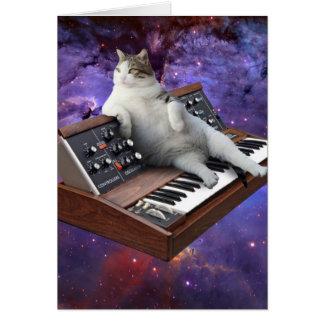 keyboard cat - cat memes - crazy cat card