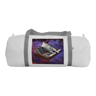 keyboard cat - cat memes - crazy cat gym duffel bag