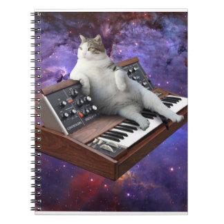 keyboard cat - cat memes - crazy cat notebook