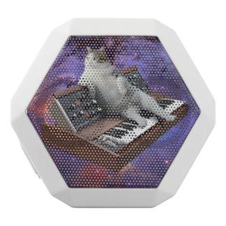 keyboard cat - cat memes - crazy cat white bluetooth speaker
