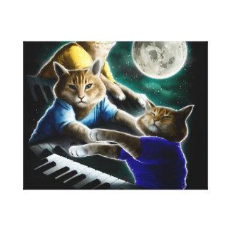 keyboard cat - cat music - cat memes canvas print