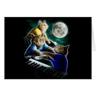 keyboard cat - cat music - cat memes card