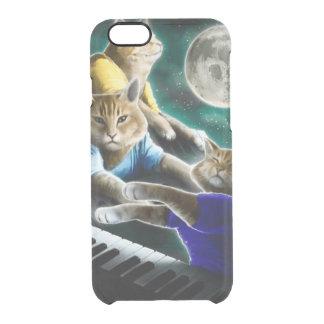 keyboard cat - cat music - cat memes clear iPhone 6/6S case