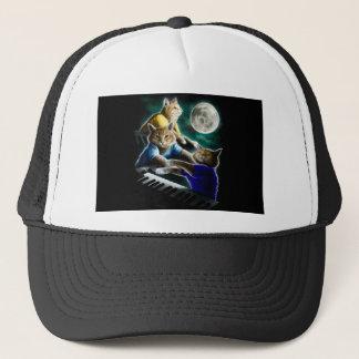 keyboard cat - cat music - cat memes trucker hat