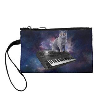 keyboard cat - cat music - space cat coin purse