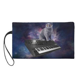 keyboard cat - cat music - space cat wristlet