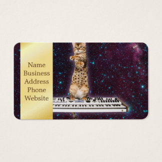 keyboard cat - funny cats  - cat lovers business card