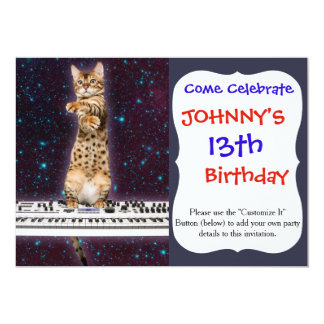 keyboard cat - funny cats  - cat lovers card