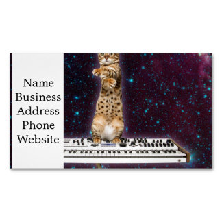 keyboard cat - funny cats  - cat lovers Magnetic business card