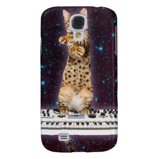 keyboard cat - funny cats  - cat lovers samsung galaxy s4 cover