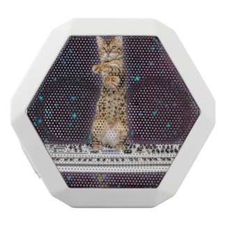 keyboard cat - funny cats  - cat lovers white bluetooth speaker