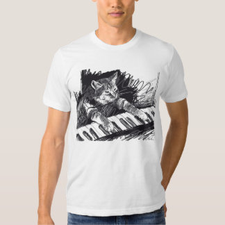 Keyboard Cat Pencil Drawing Shirt! T-Shirt