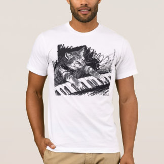 Keyboard Cat Pencil Drawing Shirt! T-Shirt