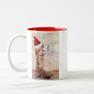 Keyboard Cat SANTA IN SHOE mug
