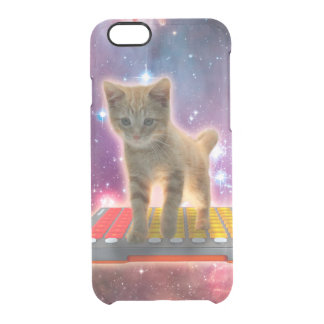 keyboard cat - tabby cat - kitty clear iPhone 6/6S case