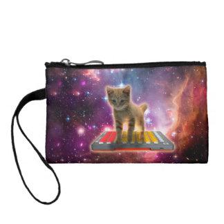 keyboard cat - tabby cat - kitty coin purse