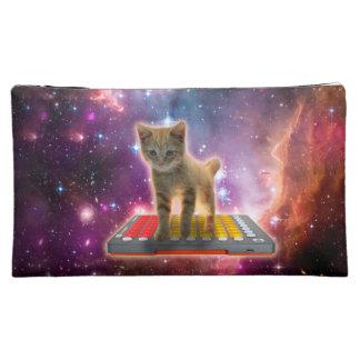 keyboard cat - tabby cat - kitty cosmetic bag