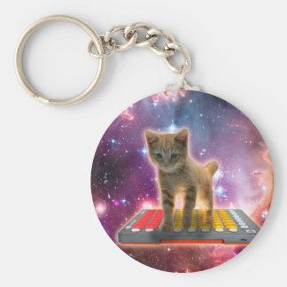 keyboard cat - tabby cat - kitty key ring
