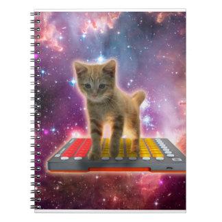 keyboard cat - tabby cat - kitty notebook