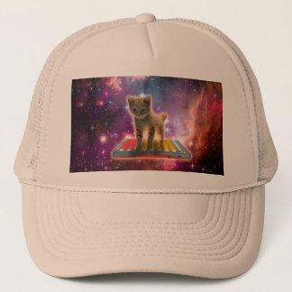 keyboard cat - tabby cat - kitty trucker hat