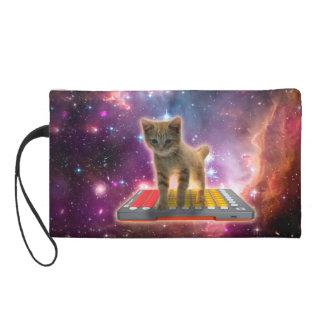 keyboard cat - tabby cat - kitty wristlet