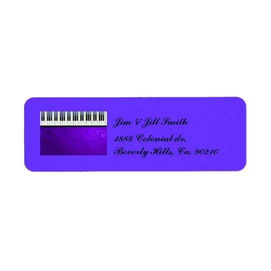 Keyboard Couture Set Return Address Label