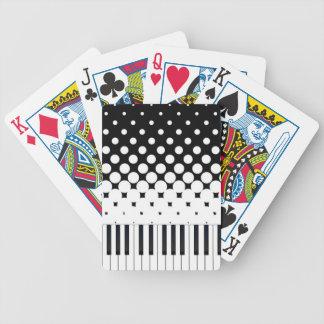 Keyboard Grunge Bicycle Playing Cards