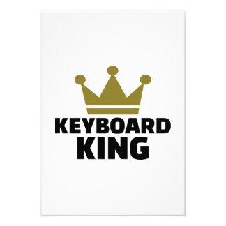 Keyboard King Personalized Invitations