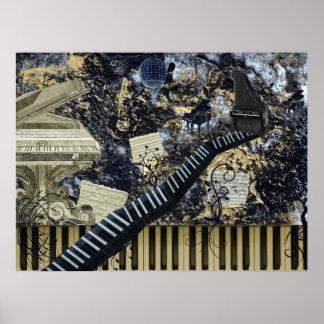 Keyboard Landscape Poster