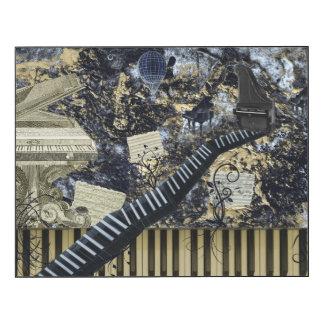 Keyboard Landscape Steampunk Vision