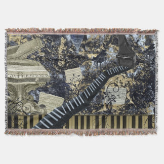Keyboard Landscape Throw Blanket
