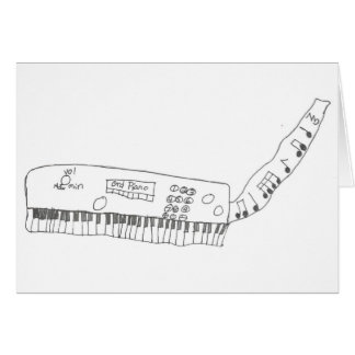 keyboard & music card