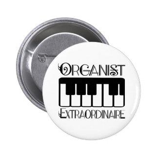 Keyboard Organist Extraordinaire 6 Cm Round Badge