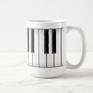 Keyboard / Piano Keys: Basic White Mug