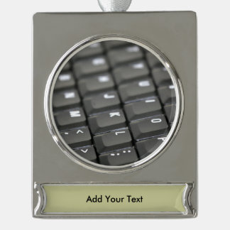 Keyboard Silver Plated Banner Ornament