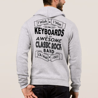 KEYBOARDS awesome classic rock band (blk) Hoodie
