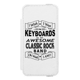 KEYBOARDS awesome classic rock band (blk) Incipio Watson™ iPhone 5 Wallet Case